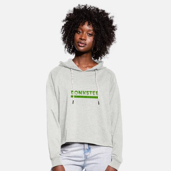 Fate Hoodies & Sweatshirts - DONKSTER luck and destiny - Women's Cropped Hoodie heather oatmeal