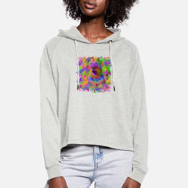 Chesapeake-Bay-Retriever im Graffiti Look - Frauen Cropped Hoodie