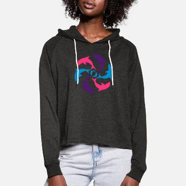 Océan Dolphin Circle - Women's Cropped Hoodie