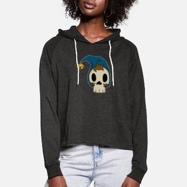 dead yes yes - Women's Cropped Hoodie