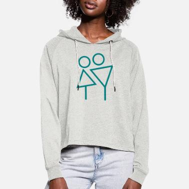 Couple Couple - Cropped hoodie til damer