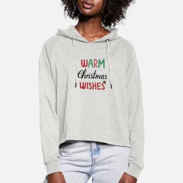 Alcohol warm Christmas wishes - Women's Cropped Hoodie