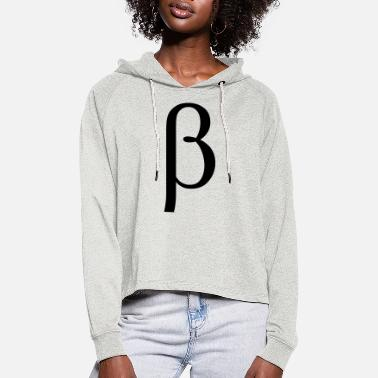 Greek Letters beta Greek letter - Women's Cropped Hoodie