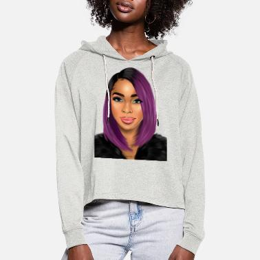 Glam purple glam - Women's Cropped Hoodie