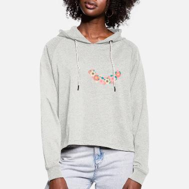 Floral wreath - Women's Cropped Hoodie