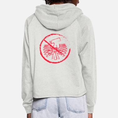 Surveillance State No to the surveillance state - Women's Cropped Hoodie