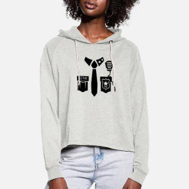 Police Uniform - Front - Women's Cropped Hoodie