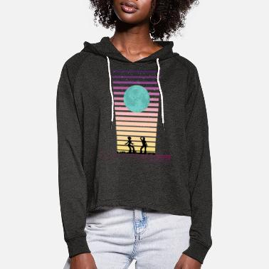 Retro Dance Night - Women's Cropped Hoodie