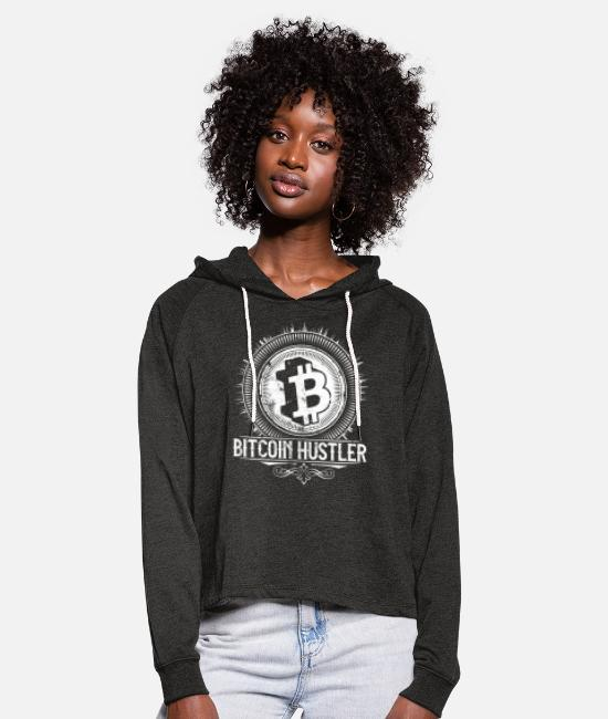 Millionär Pullover & Hoodies - Bitcoin Crypto Traider | Krypto Hodl Cash Shirt - Frauen Cropped Hoodie Anthrazit