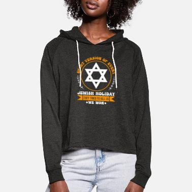 Israel Gift for Jewish Celebrations and Remembrance Days - Women's Cropped Hoodie