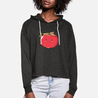 Flavour Persimmon persimmon honey apple Sharon fruit - Women's Cropped Hoodie