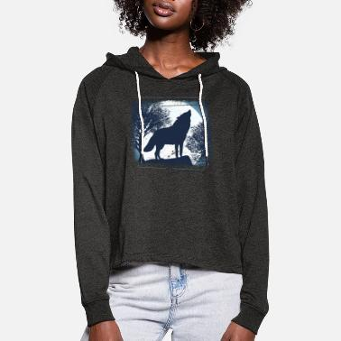 Pack-animals Wolf pack of animals - Women's Cropped Hoodie