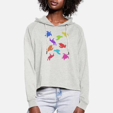 Protection Of The Environment turtle - Women's Cropped Hoodie