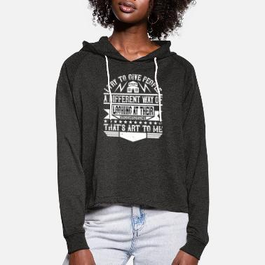 Builder Architect I give people a different way of looking - Women's Cropped Hoodie