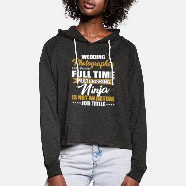 Wedding photographer gift photography - Women's Cropped Hoodie