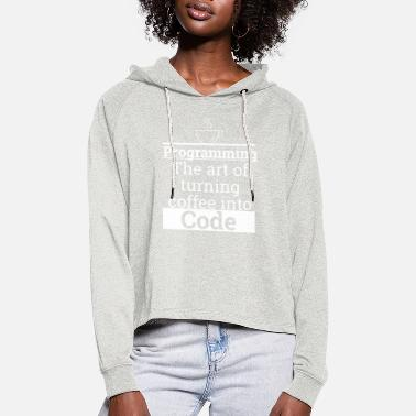 Programmemer Programming Coffee to Code | programmer - Women's Cropped Hoodie