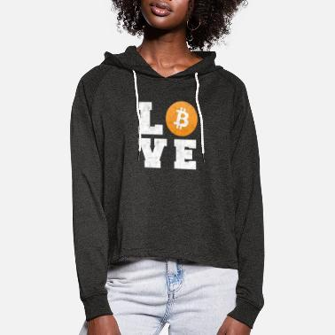 Bitcoin Love - Crypto Currency camiseta de regalo - Sudadera cropped con capucha