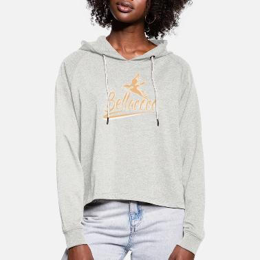 Bellacoco with bird beige - Women's Cropped Hoodie