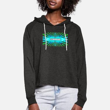 Wear Technobabe bluegreen - Women's Cropped Hoodie