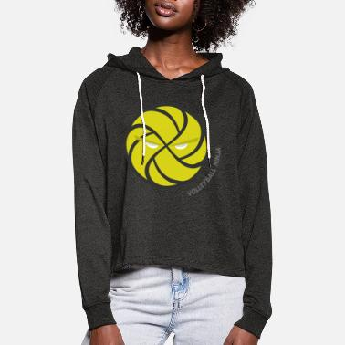 VolleyBall (Ninja Edition) - Women's Cropped Hoodie