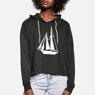 Sail Boat Sailing Boat - Women's Cropped Hoodie