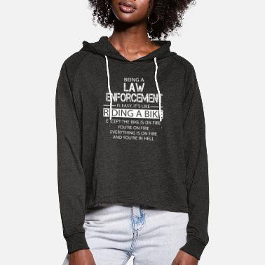 Enforcement Law Enforcement - Women's Cropped Hoodie