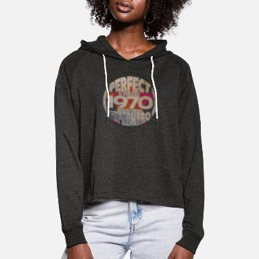 Born 1970 1970 year of birth - Women's Cropped Hoodie