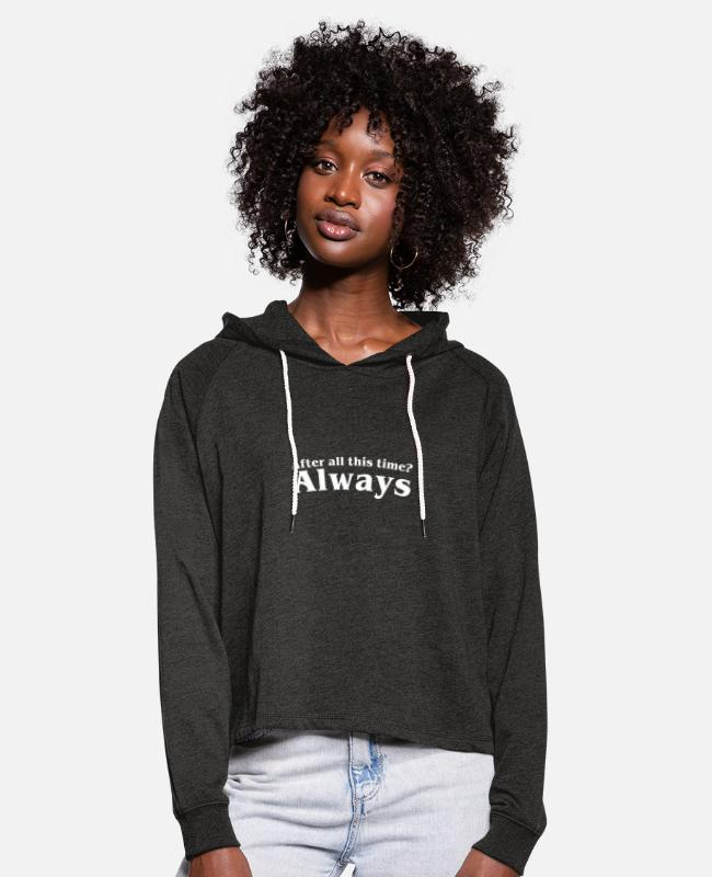 Baguette Hoodies & Sweatshirts - Always Harry Potterr 2 - Women's Cropped Hoodie charcoal grey