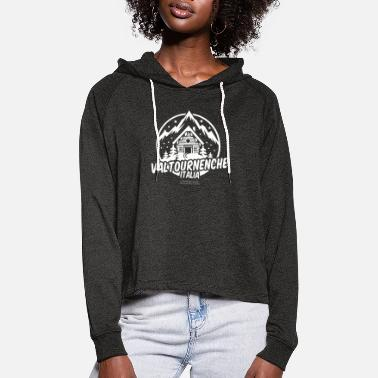 Ski Resort Valtournenche Italia Ski Resort - Women's Cropped Hoodie