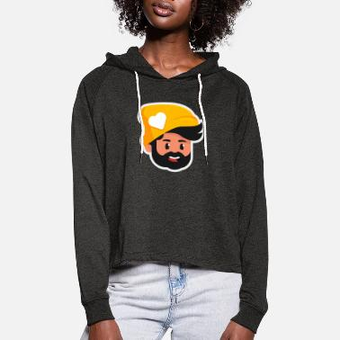 Breitbart Golden Bearded Man - Women's Cropped Hoodie