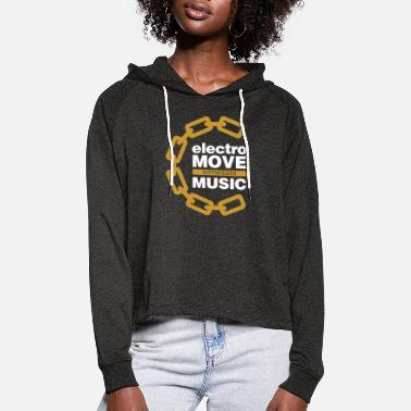 ELECTRO MOVE SYNTHESIZER MUSIC DM (2) - Frauen Cropped Hoodie