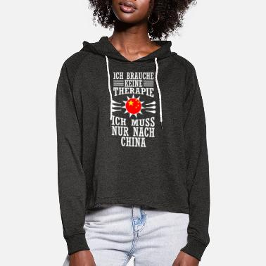 China china - Frauen Cropped Hoodie