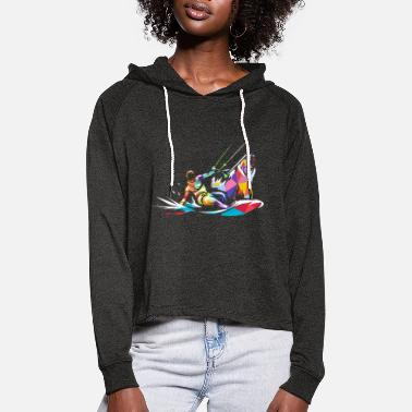 Brother Bear kitesurfing gift - Women's Cropped Hoodie