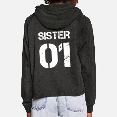 01 Sister 01, Cute, Family, Gift Ideas, Birthdays - Sudadera cropped con capucha