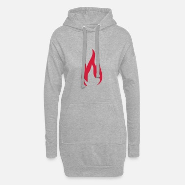 Fire Fire Fire Fire 1c - Women's Hoodie Dress