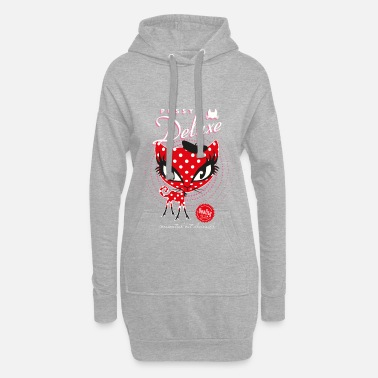 Pussy Deluxe Red Cat  - Women's Hoodie Dress