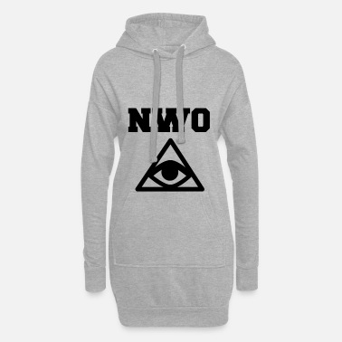 New World Order New World Order Illuminati Motif White - Długa bluza z kapturem
