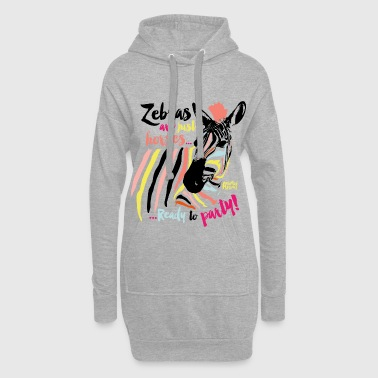 Planet Animal Planet Zebra Ready To Party - Hoodie Dress