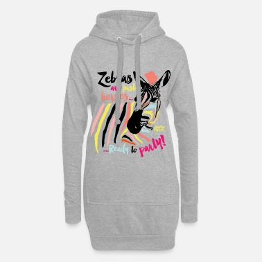 Easter Animal Planet Zebra Ready To Party - Hoodie Dress