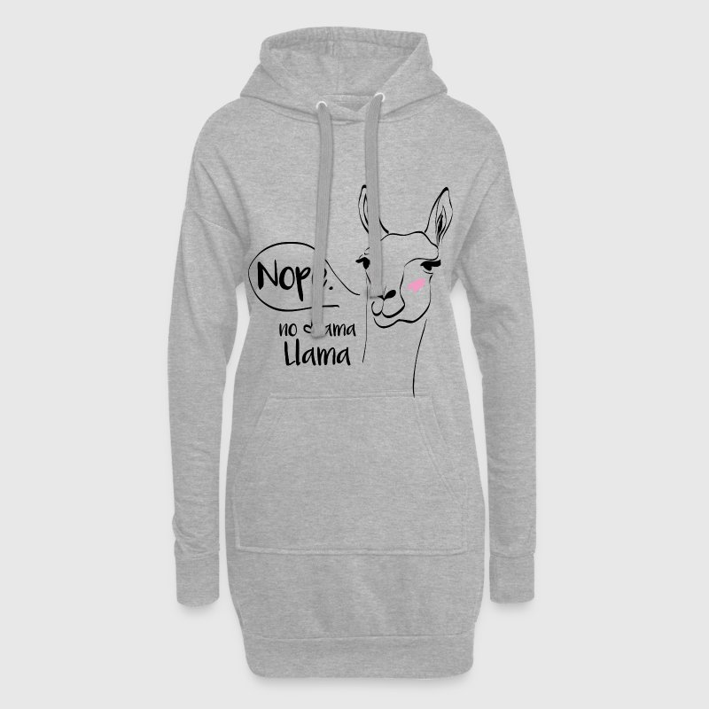 Animal Planet Funny No Drama Llama Slogan - Hoodie Dress