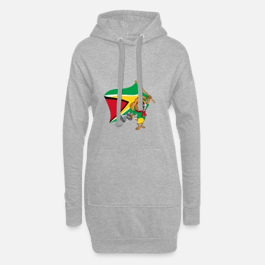 Guyana Guyana fan dog - Hoodie Dress