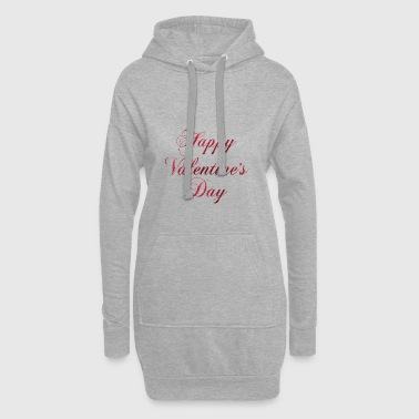 Happy Valentines Day - Hoodie Dress