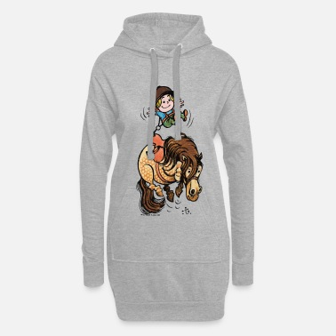 Officialbrands Thelwell Funny Illustration Bucking Horse - Hoodie Dress