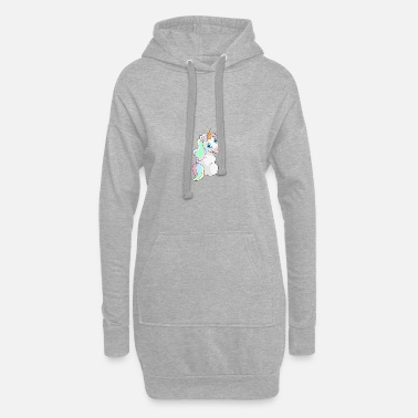 Sit Unicorn sitting - Unicorn Sitting - Hoodie Dress