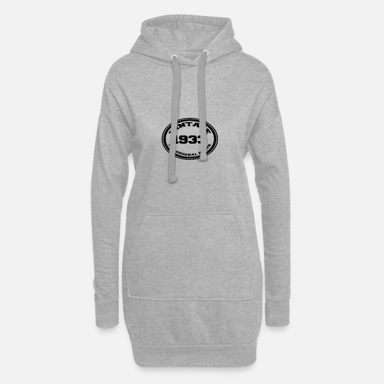 Year Of Birth Hoodies & Sweatshirts - Year of birth / year 1933 - Women's Hoodie Dress heather grey