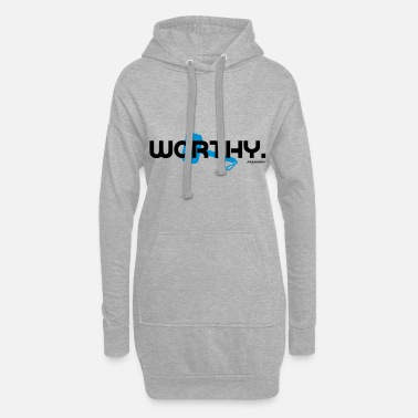 Worthy - Trainingsdesign Schrift - Frauen Hoodiekleid