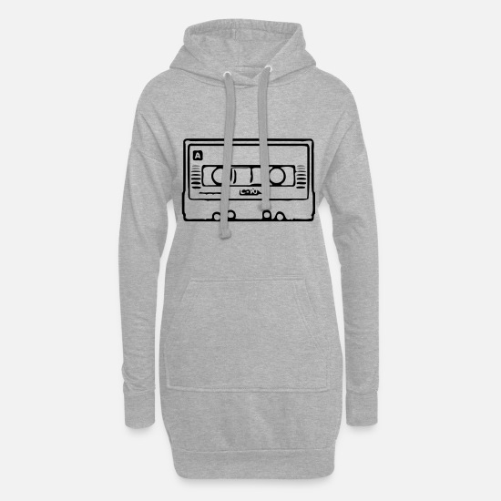 Mp3 Hoodies & Sweatshirts - Cassette - Women's Hoodie Dress heather grey