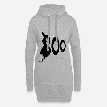 Black Halloween boo ghost - Women's Hoodie Dress