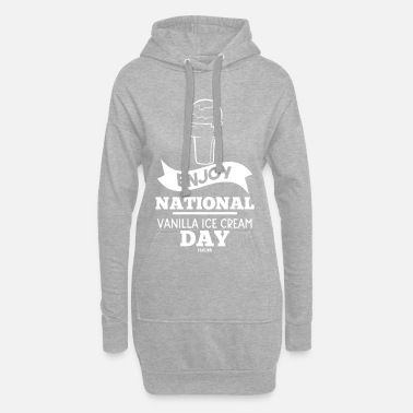 Snacke National Vanilla Ice Cream Day gave - Hoodie kjole dame