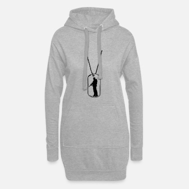 Tag Dog tag soldier dog tag - Women's Hoodie Dress